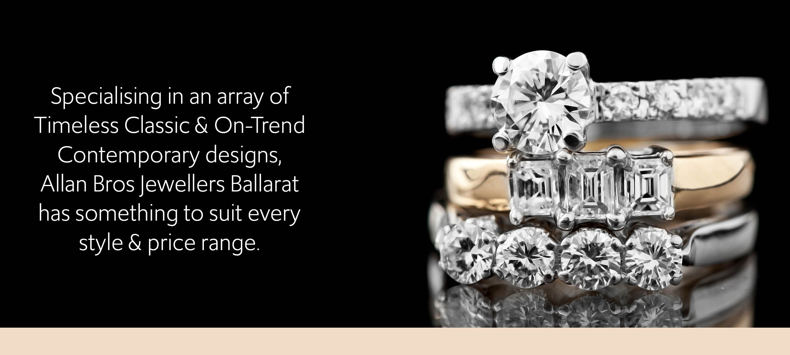 Allans Bros Jewellers Specialises in Timeless Classic & On-Trend Contemporary Designs